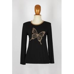 Top con mariposa