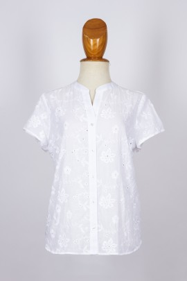 Camisa bordada m/c