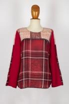 casaca estamp. rojo/rojo -coord. liso