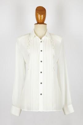 blusa plisada/bordada